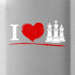 Chess - I love chess - Water Bottle