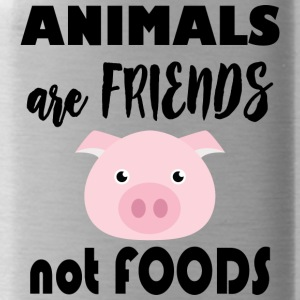 Animals are friends not food - Water Bottle