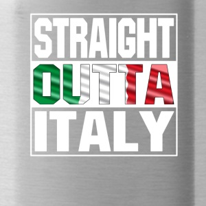 straight outta italy - Trinkflasche