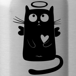angelic cat - Water Bottle