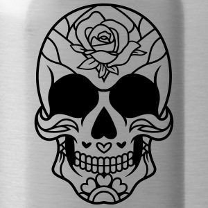 Sugar Skull Mexican rose / sugar skull - Water Bottle