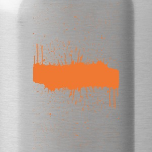 orange brush sketch - Water Bottle