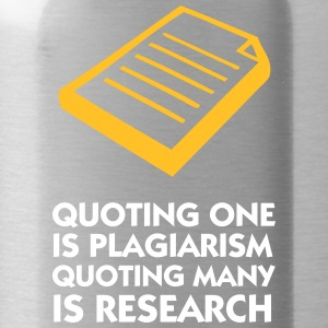 Plagiarism And Research - Water Bottle