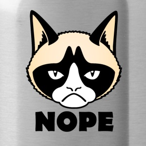 grumpy cat nope Grumpy cat nope - Water Bottle