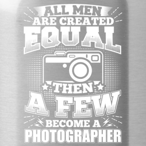 Funny Photographer Shirt All Men Equal - Water Bottle