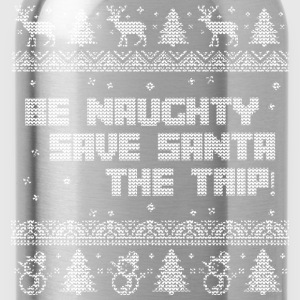 Santa's been naughty - Water Bottle