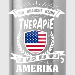 I do not need a therapy America USA - Water Bottle