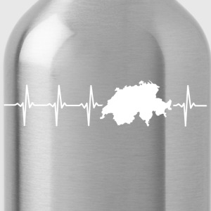 Switzerland, heartbeat design - Water Bottle