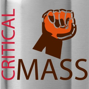 Critical mass cyclist - Water Bottle