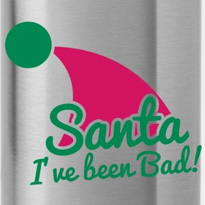 SaNTA I've been BAD! humour funny Christmas design with Santa claus hat