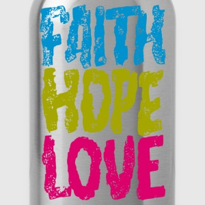 faith hope love - Water Bottle