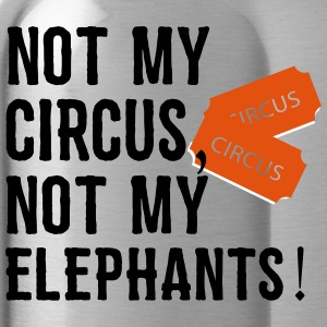 not my circus not my elephants 2 - Water Bottle