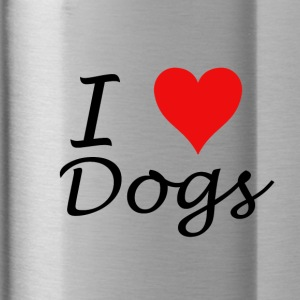 I Love Dogs - Drinkfles