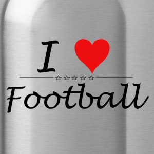 I Love Football - Trinkflasche