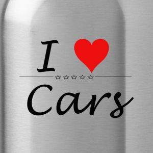 I Love Cars - Trinkflasche