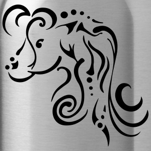 Mare, clean tribal design - Water Bottle