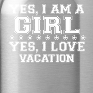 gift on girl a girl love gift bday VACATION - Water Bottle