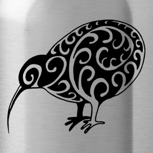 New Zealand: Kiwi in black - Water Bottle