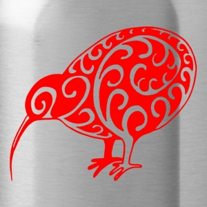 New Zealand: Kiwi in red - Water Bottle