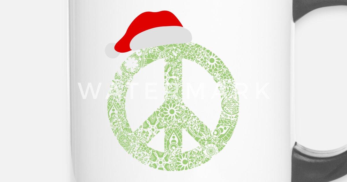 Weihnachten Frieden Zeichen Santa Mütze Geschenk von   Spreadshirt