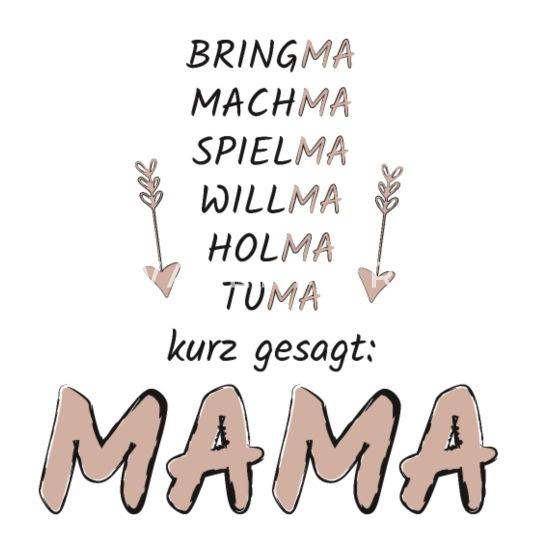 Mama Muttertag Superheldin Eltern Sprüche Geschenk Thermobecher Weiß