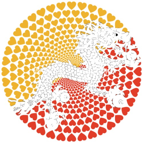 Bhutan འབགཡལ Druk Yul Love Herz Mandala