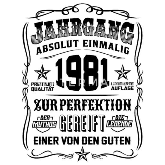 Jahrgang 1981 Geschenk 38 Geburtstag 38 Jahre Thermobecher Weiß