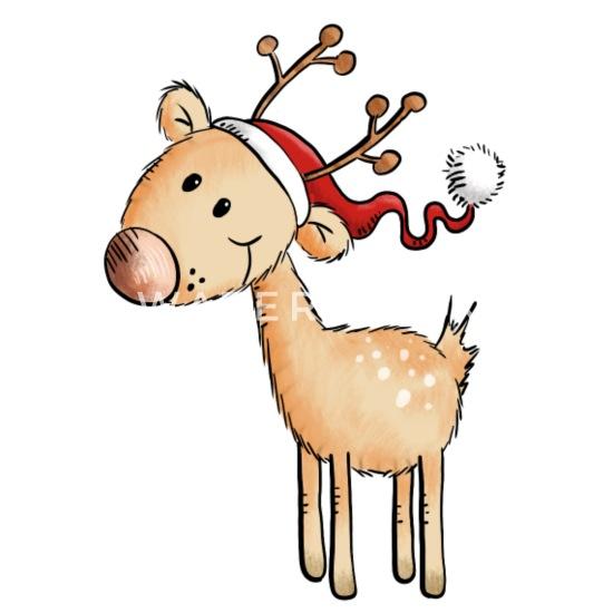 Bilder Comic Weihnachten.Niedliches Nikolaus Rentier Weihnachten Comic Thermobecher Weiß