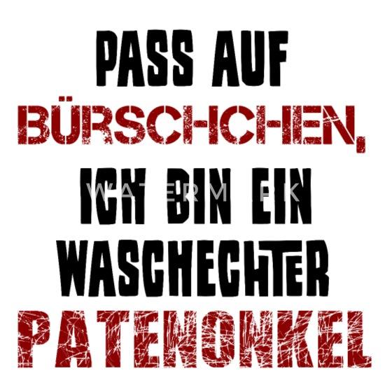Pate Patenonkel Spruch Lustig Patenkind Thermobecher Weiß