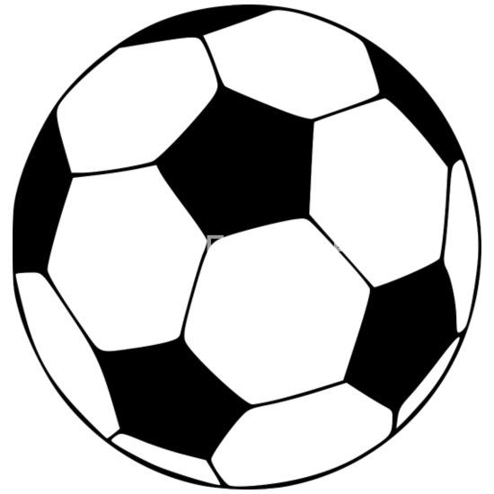Fussball Ball Grafik Thermobecher Weiss