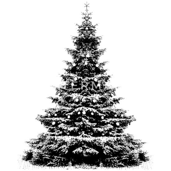 Weihnachtsbaum Schwarz.Weihnachtsbaum Schwarz Weiß Elegant Weihnachten Thermobecher Weiß
