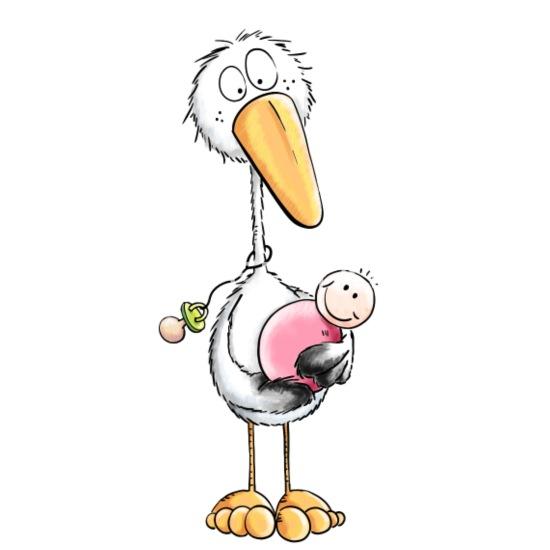 storch mit baby  babys  geschenk  schwanger