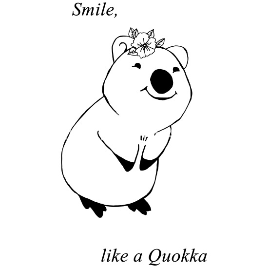 Smile, Like a Quokka Thermobecher Weiß