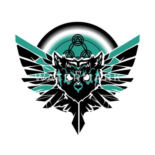 Eule Zeichen Symbole Geschenk Motiv Vogel Teufel Thermobecher