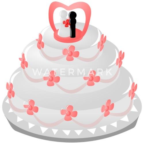 Hochzeitstorte Mit Brautpaar Und Blumen Thermobecher Spreadshirt