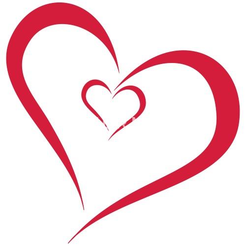 Zwei Herzen Ineinander Thermobecher Spreadshirt