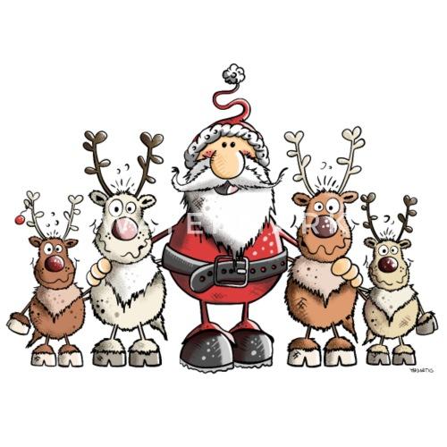 Babbo Natale Con Le Renne.Babbo Natale Con Le Renne Tazza Termica Spreadshirt