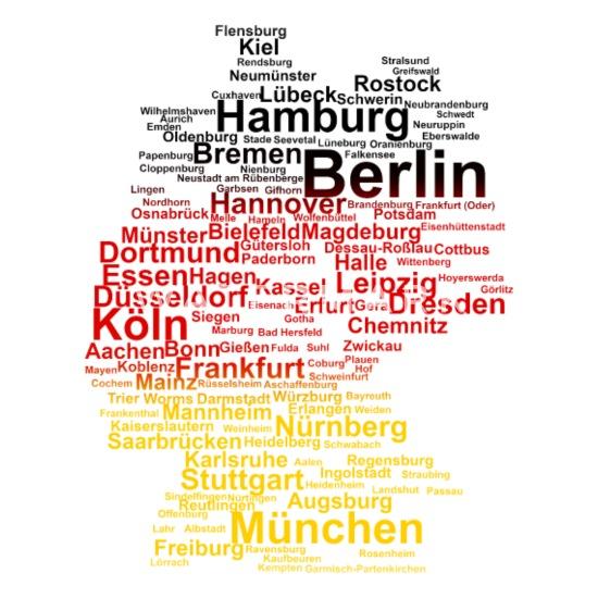 Köln Karte Deutschland.Deutschland Umriss Städte Flagge Karte Berlin Köln Thermobecher Weiß