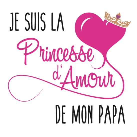 Je Suis La Princesse Damour De Mon Papa Mug Thermos Blanc