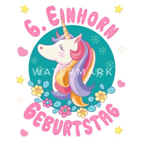 Einhorn 6 Geburtstag 6 Jahre Unicorn Geburtstag Thermobecher