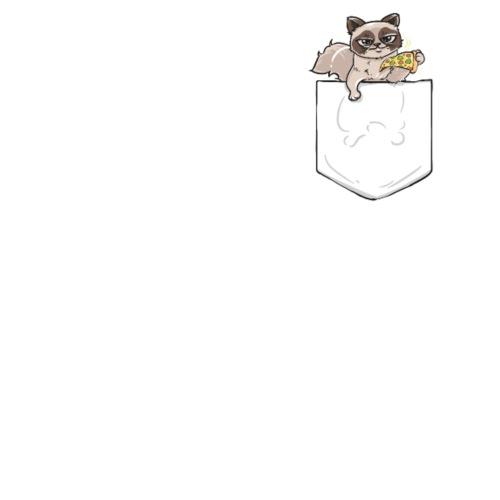 Geschenk Katze Pizza Brusttasche Lustig Geburtstag Thermobecher