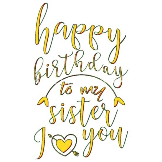 Welp Gelukkige verjaardag zus Thermosbeker | Spreadshirt RB-08