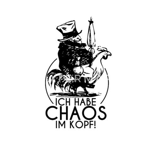 Chaos Im Kopf Shirt Kopfkino Freak Lustige Spruche Thermobecher