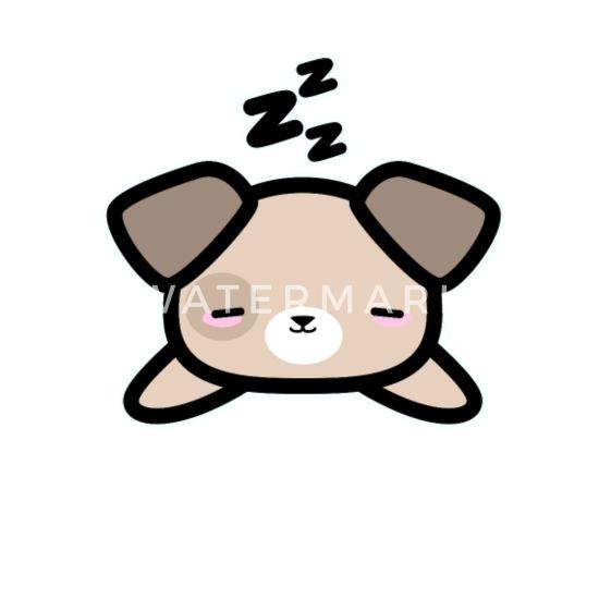Cadeau De Dessin De Style Mignon Kawaii Design Sleeping Dog Mug Thermos Blanc