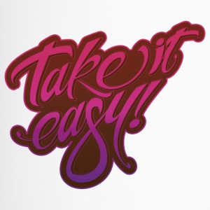 Take it easy pink purple - Thermobecher