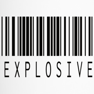 EXPLOSIVE BARCODE BLACK - Thermobecher