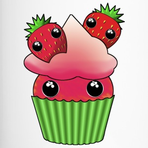 Cute strawberry kawaii cupcake - Termosmugg