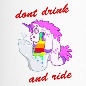 dont drink and ride unicorn - Thermobecher