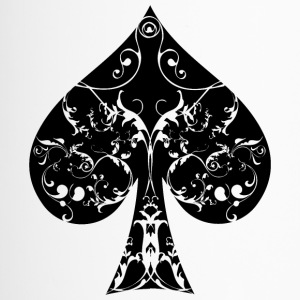 Spades Card Symbol Tribal Poker Ass Hold'em - Travel Mug