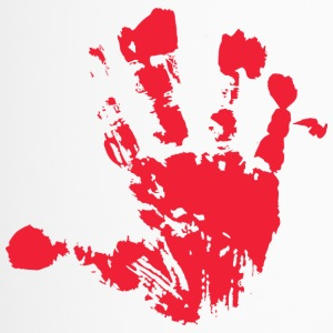 Handprint rood - Thermo mok